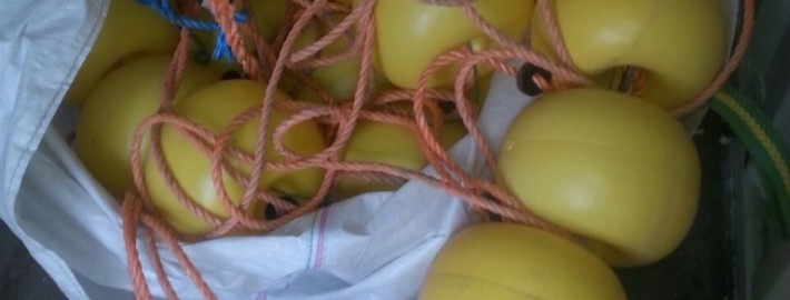 Ballenlijn 20 x 20 cm met touw 12 mm.